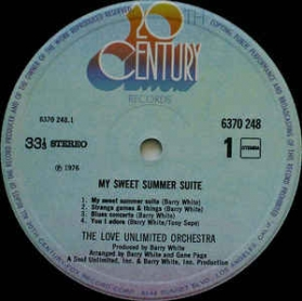 Love Unlimited Orchestra ‎- My Sweet Summer Suite