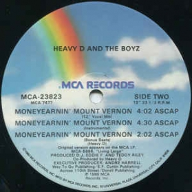 Heavy D And The Boyz - Don't You Know / Moneyearnin' Mount Vernon