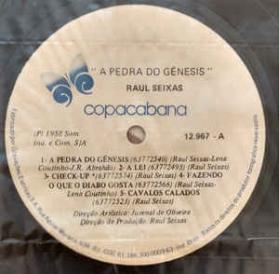 Raul Seixas - A Pedra Do Gênesis