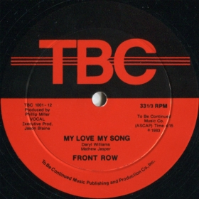 Front Row ‎- My Love My Song - Wanting You - You're The One