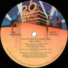 Barry White - I Love To Sing The Songs I Sing