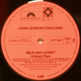 John Lennon e Yoko Ono - Milk And Honey