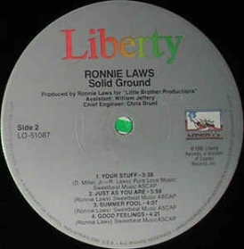 Ronnie Laws ‎- Solid Ground