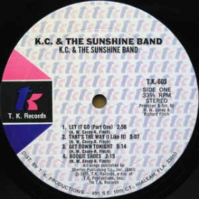 KC And The Sunshine Band ‎- KC And The Sunshine Band