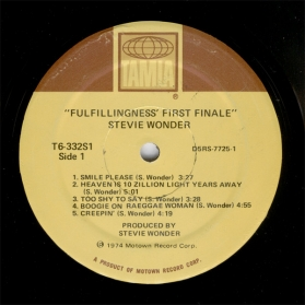 Stevie Wonder-Fulfillingness First Finale