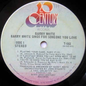 Barry White - Sings For Someone You Love