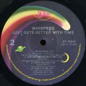 The Whispers - Just Gets Better With Time