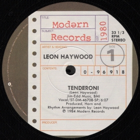 Leon Haywood - Tenderoni