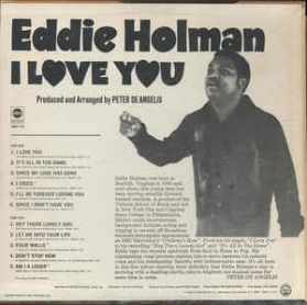 Eddie Holman - I Love You