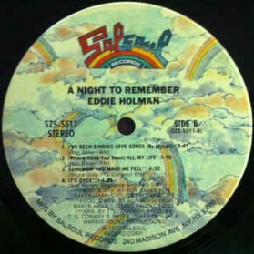 Eddie Holman ‎- A Night To Remember