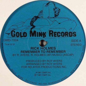 Rick Holmes - Remember To Remember