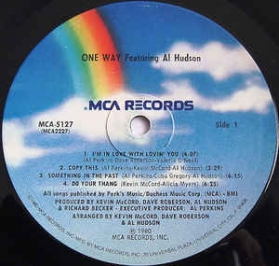 One Way Featuring Al Hudson - One Way Featuring Al Hudson