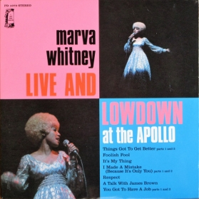 Marva Whitney ‎- Live and Lowdown At The Apollo