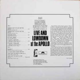 Marva Whitney - Live and Lowdown At The Apollo