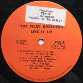 The Isley Brothers ‎- Live It Up